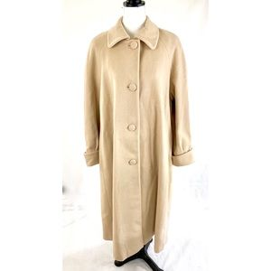 HALSTON Floor Length Wool Cashmere Blend Coat